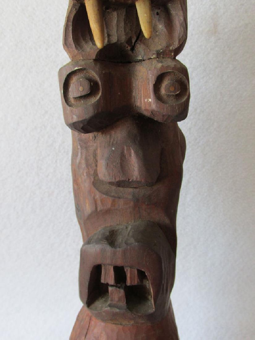 Vintage Hand carved Folk Art Totem Pole - 7