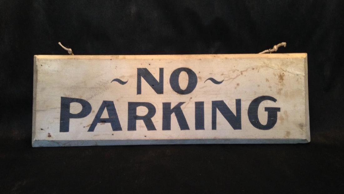 1940 No Parking Sign