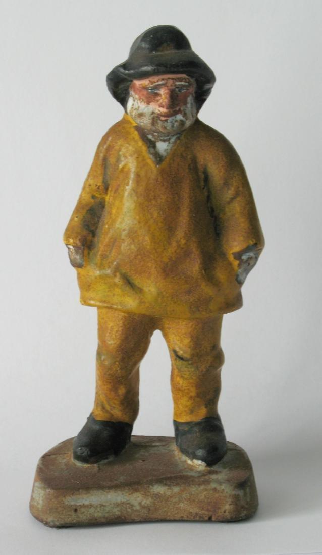 """Vintage Cast Iron """"Old Salt"""" Figure"""