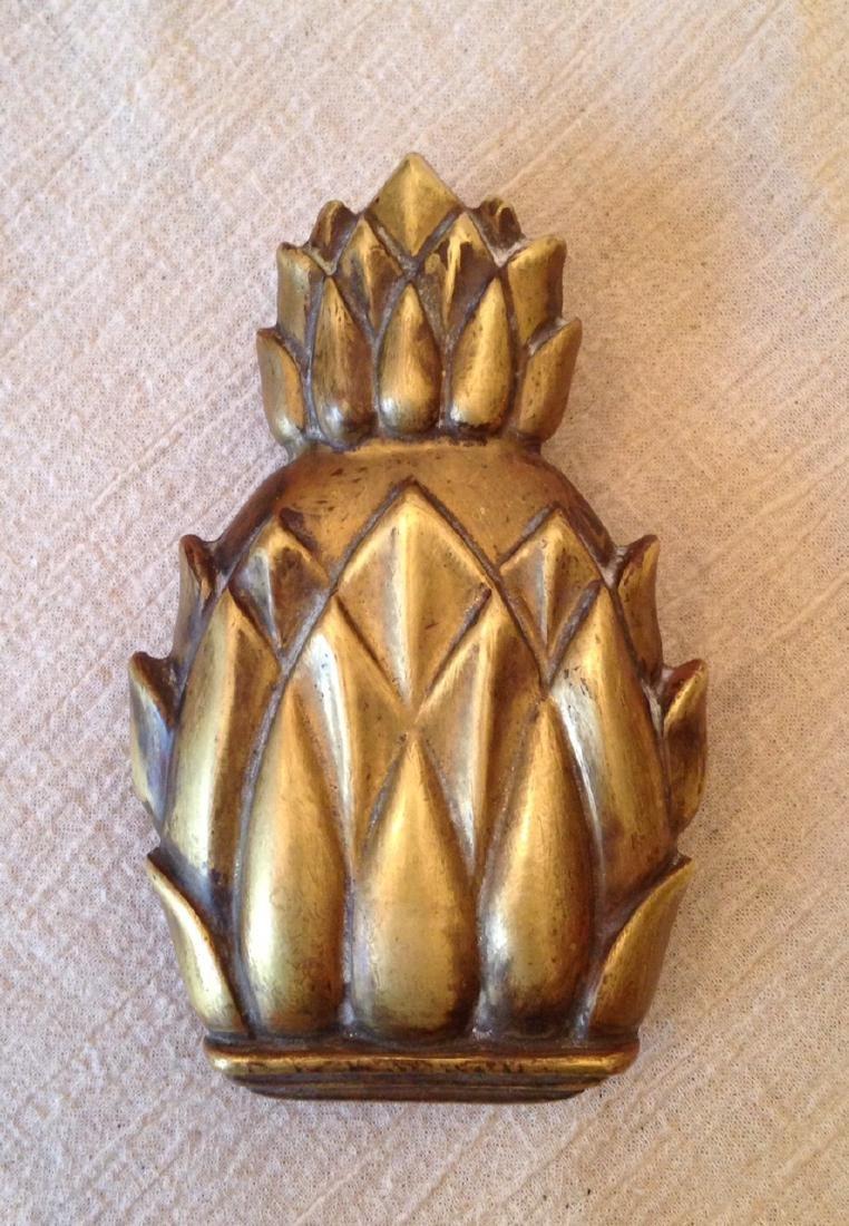 1930 Cast Brass Pineapple Door Knocker