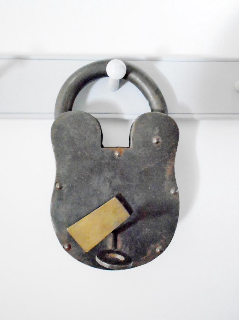 Extra Large Iron Padlock With Key