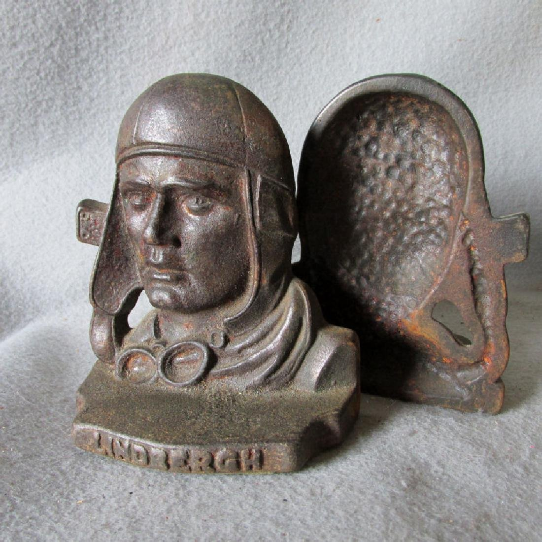 Charles Lindbergh Bookends, Airplane Commemorative - 2