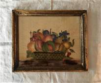 Finely Painted 19th C Theorem on Velvet