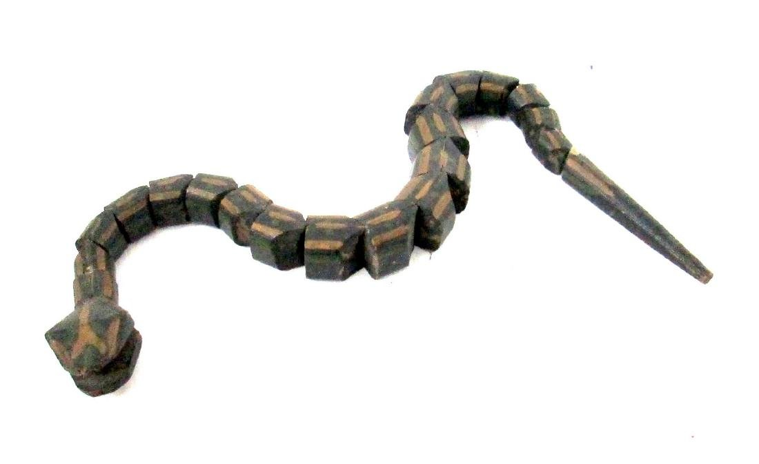 Folk Art Articulated Snake Late 19th Century
