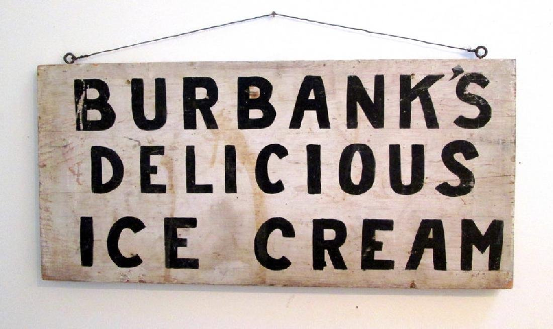 Early Ice Cream Trade Sign