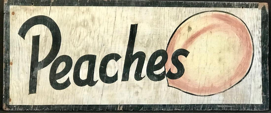 Peaches Orchard Sign, C. 1940's