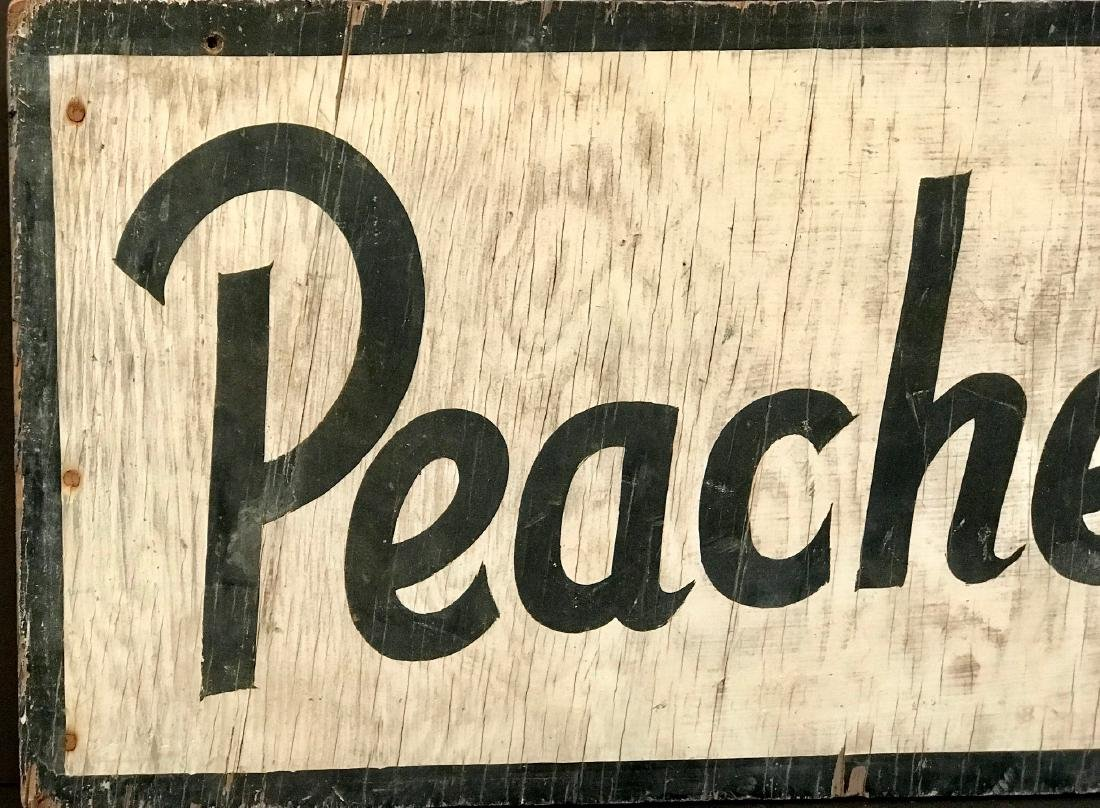 Peaches Orchard Sign, C. 1940's - 2