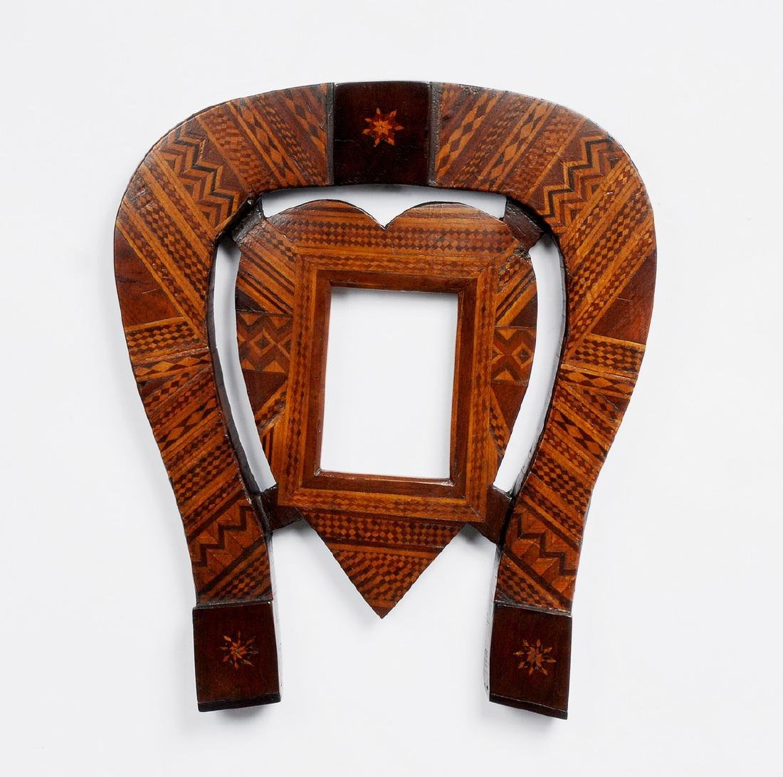 Folk Marquetry Horseshoe & Heart Frame