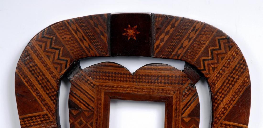 Folk Marquetry Horseshoe & Heart Frame - 2