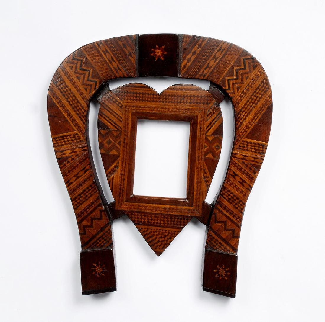 Folk Marquetry Horseshoe & Heart Frame - 6