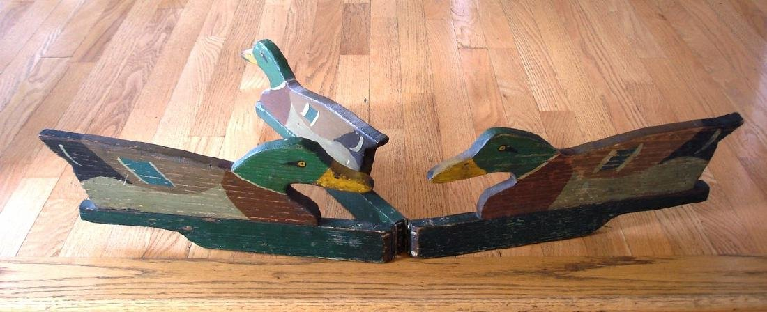 A Rig of 3 Mallards in Original Paint