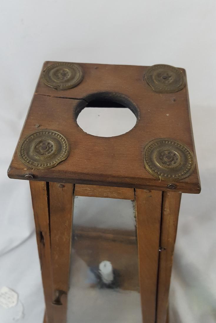 Rare Lighthouse Form Tall Candle Lantern Ca 1860-1890 - 2