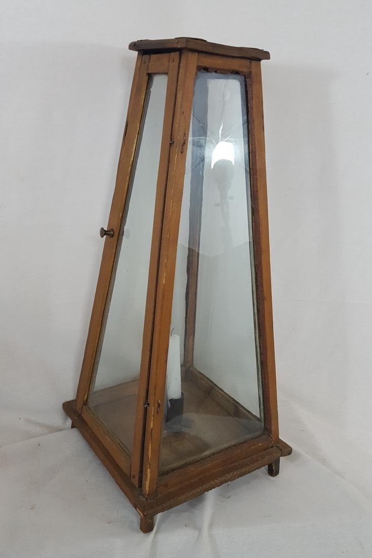Rare Lighthouse Form Tall Candle Lantern Ca 1860-1890 - 4