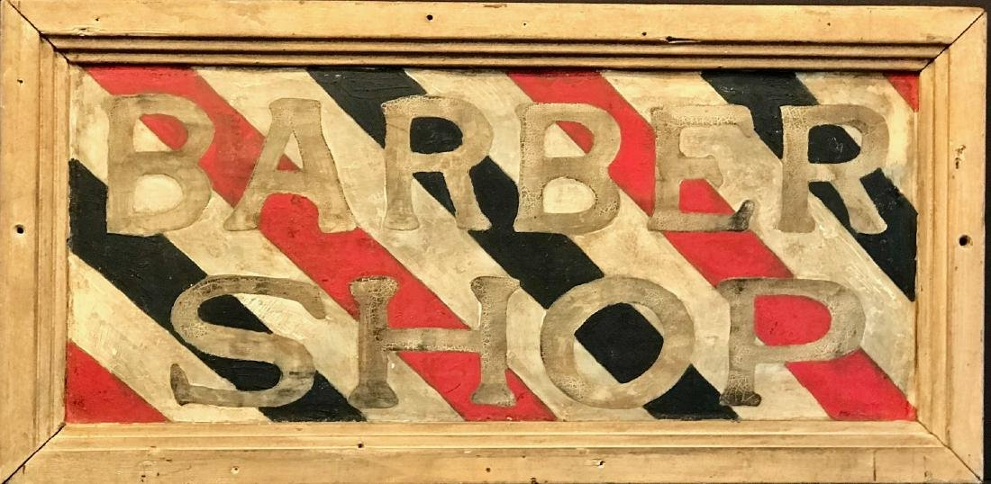 Barber Shop Sign, Late 19th Century