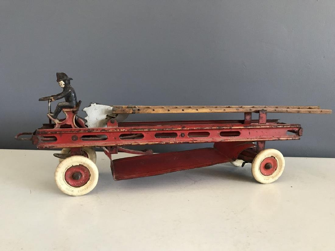 Kingsbury Toy Co. Aerial Fire Engine