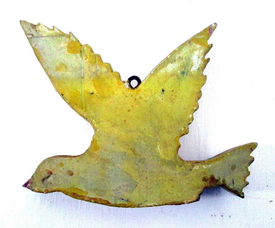 Carved Yellow Songbird - 3