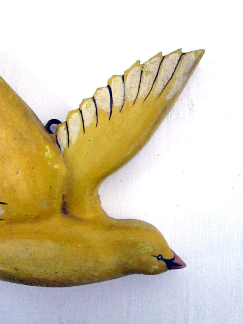 Carved Yellow Songbird - 7
