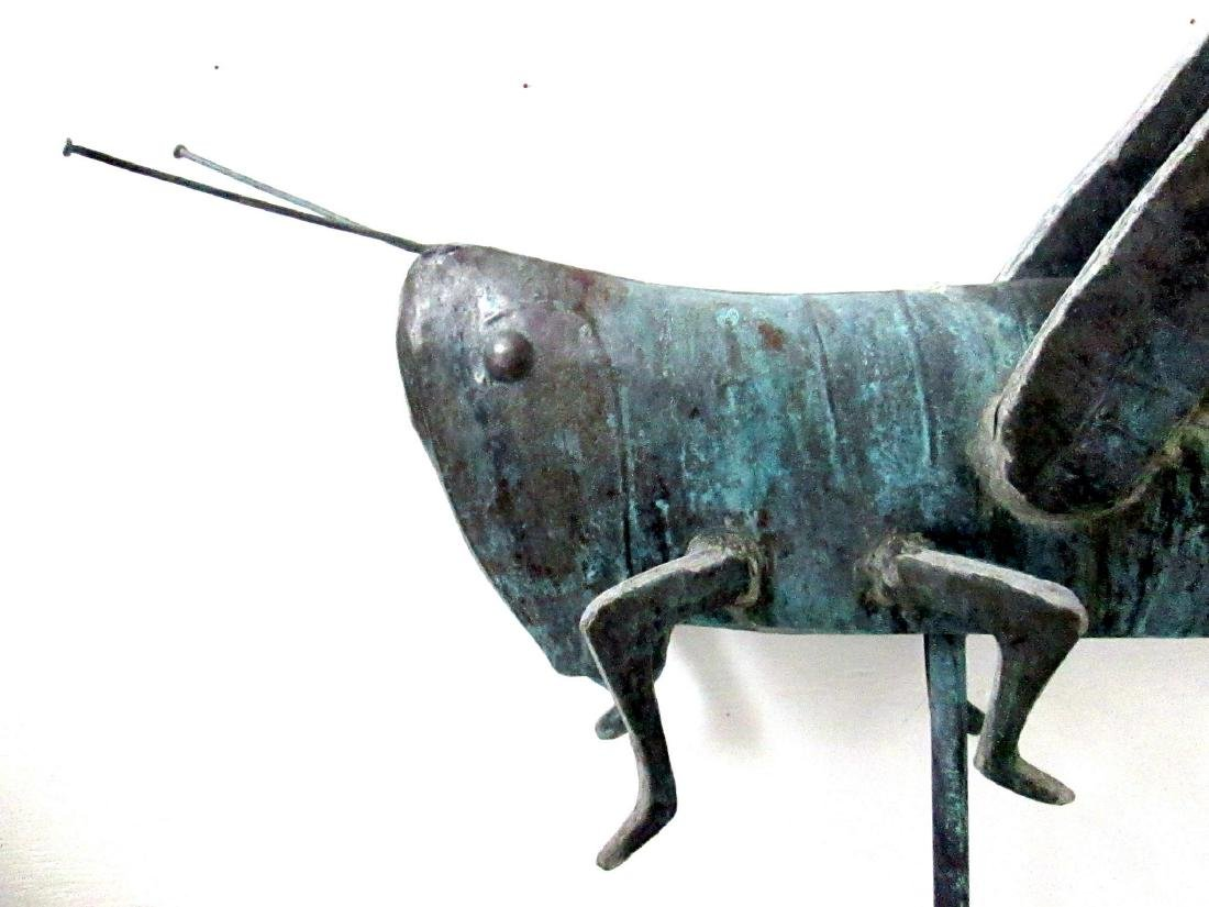 Excellent Early Grasshopper Weathervane - 3