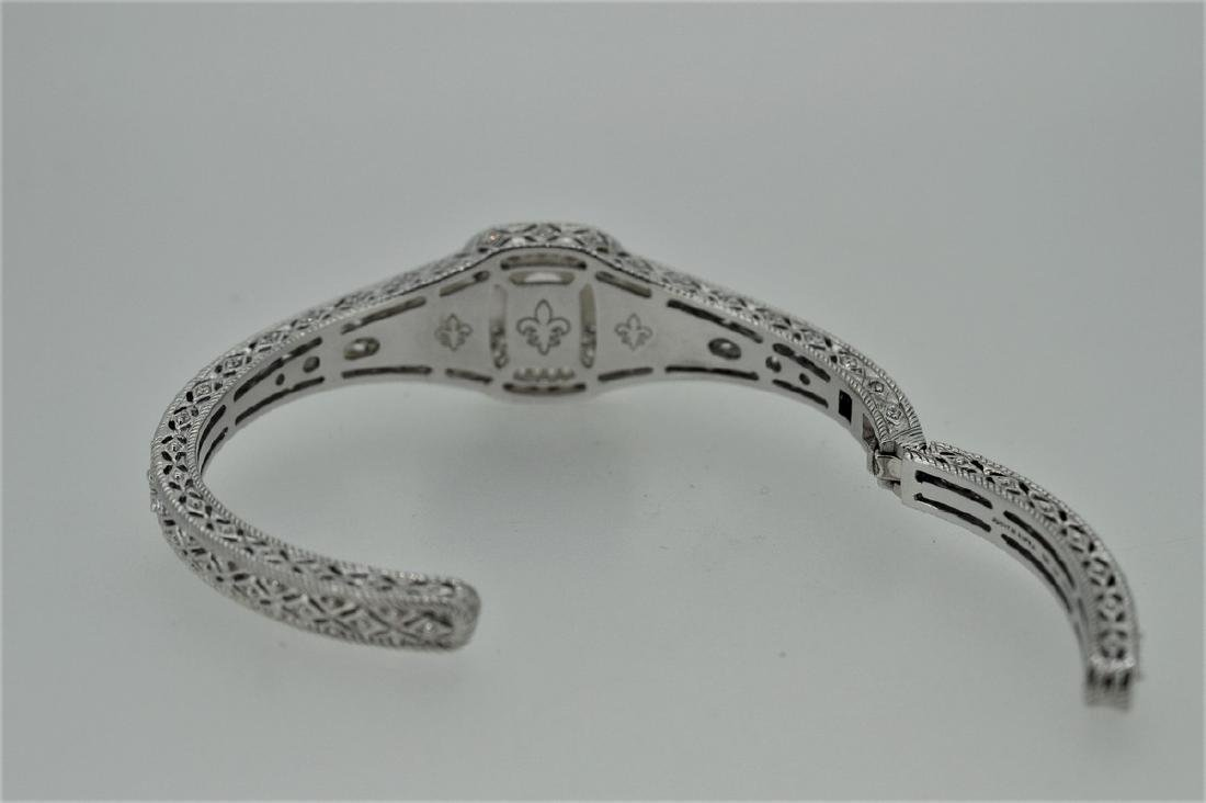 Judith Ripka Sterling Silver Pink Quartz Cuff Bracelet - 2