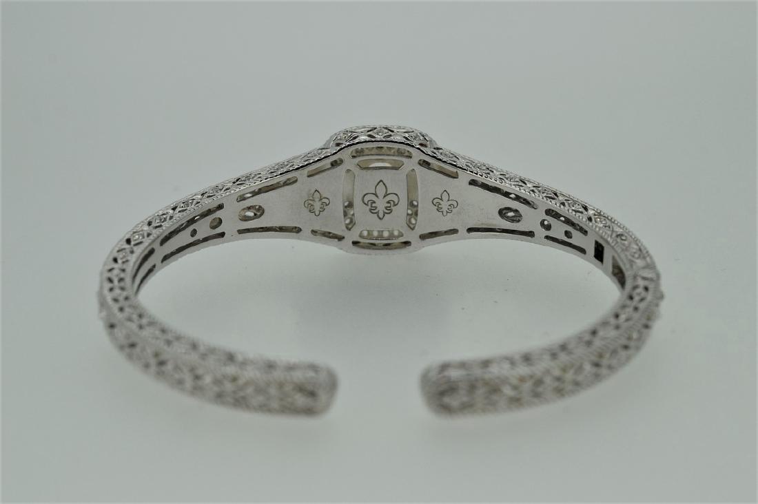 Judith Ripka Sterling Silver Pink Quartz Cuff Bracelet - 3