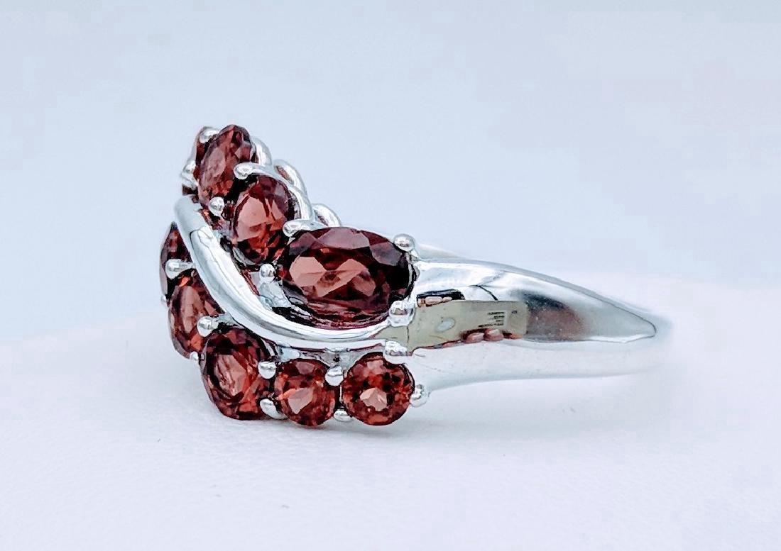 Sterling Silver Almandine Garnet Ring, 1.74ctw - 3