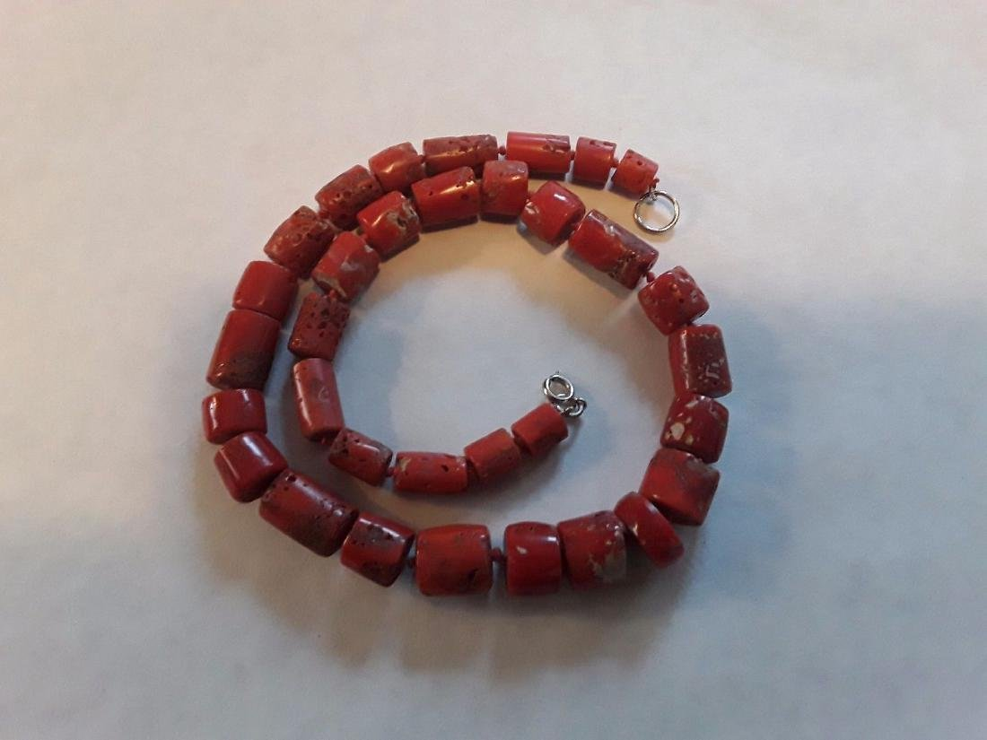 Antique Natural Untreated Yemen Coral Bead Necklace