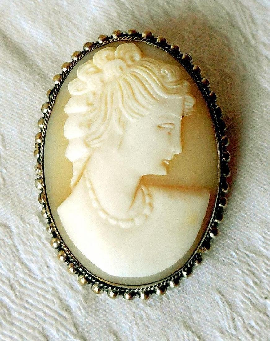 Antique Hand-Carved Shell Cameo, 1910