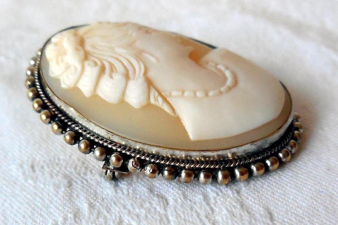Antique Hand-Carved Shell Cameo, 1910 - 3