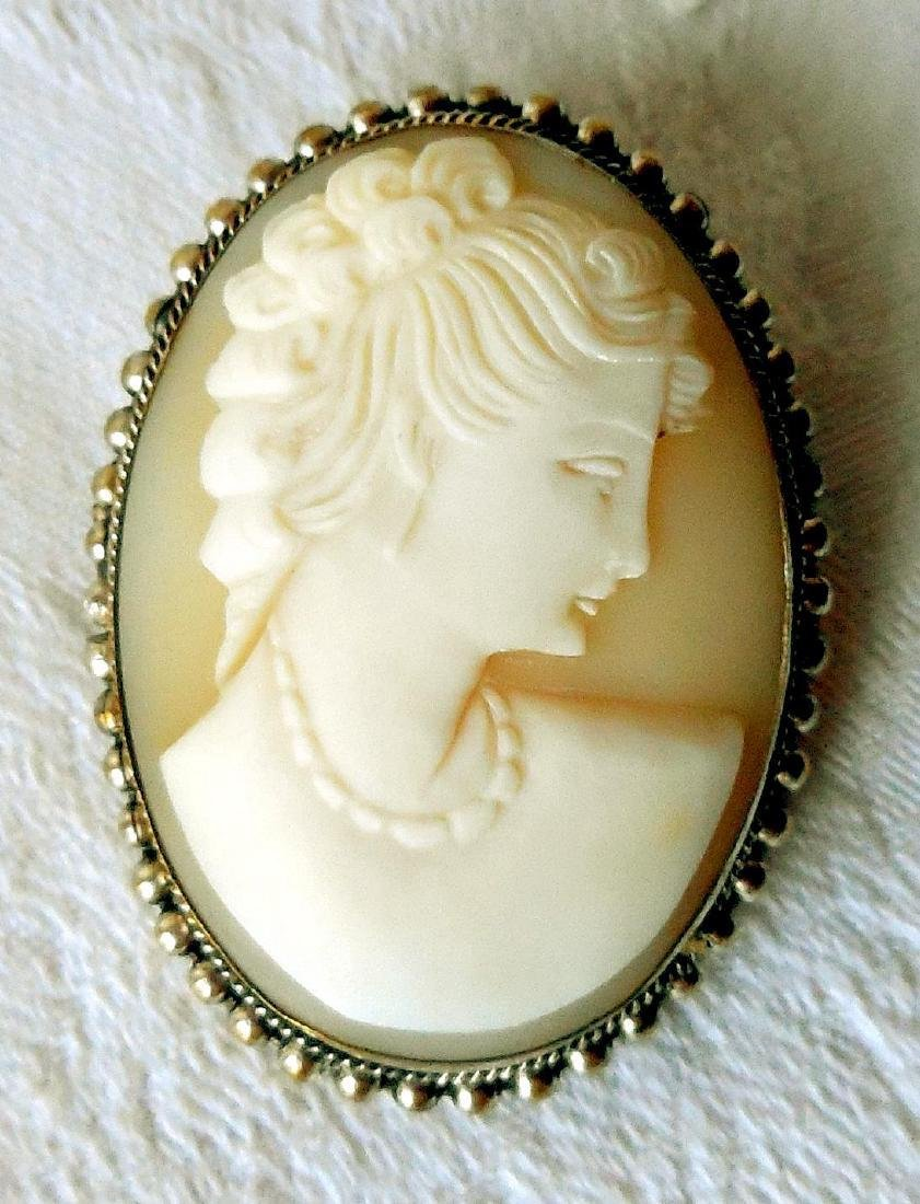 Antique Hand-Carved Shell Cameo, 1910 - 5