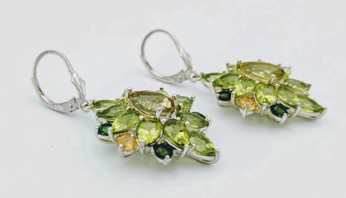 Sterling Silver Citrine Peridot Tourmaline Earrings - 2