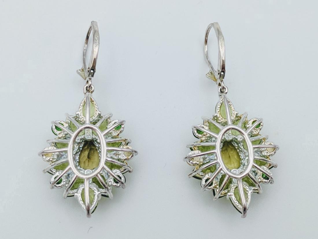 Sterling Silver Citrine Peridot Tourmaline Earrings - 3