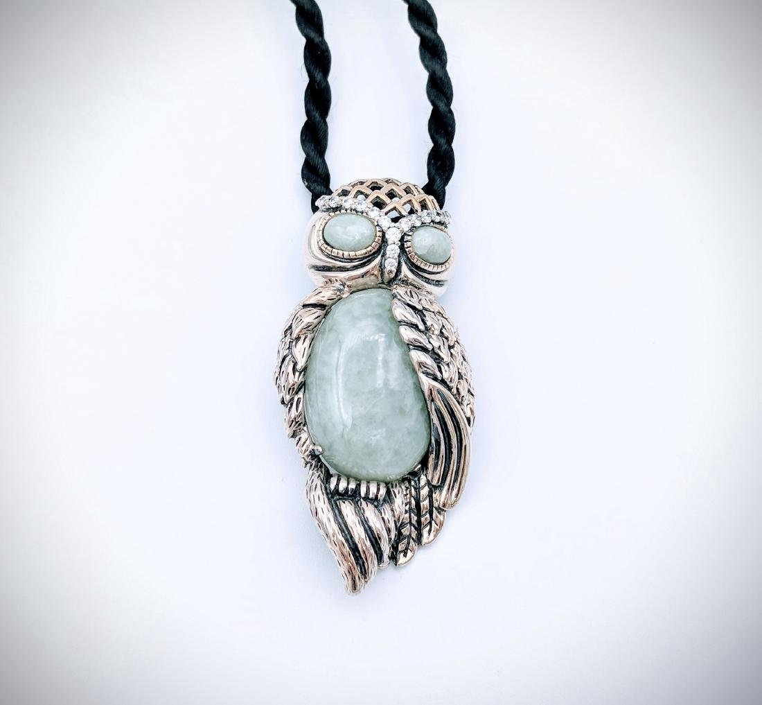 Sterling Silver Owl Designed Pendant