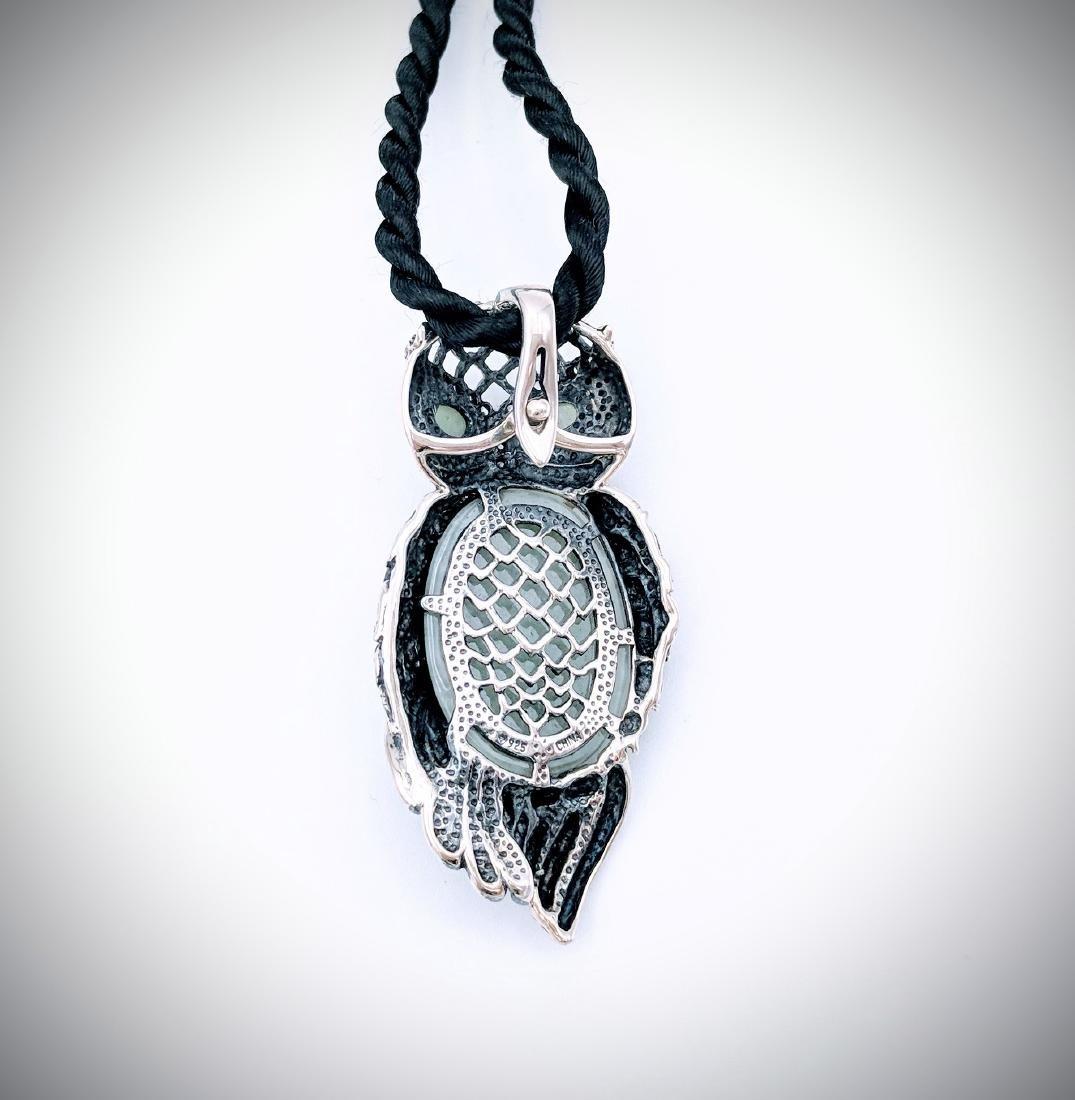 Sterling Silver Owl Designed Pendant - 2