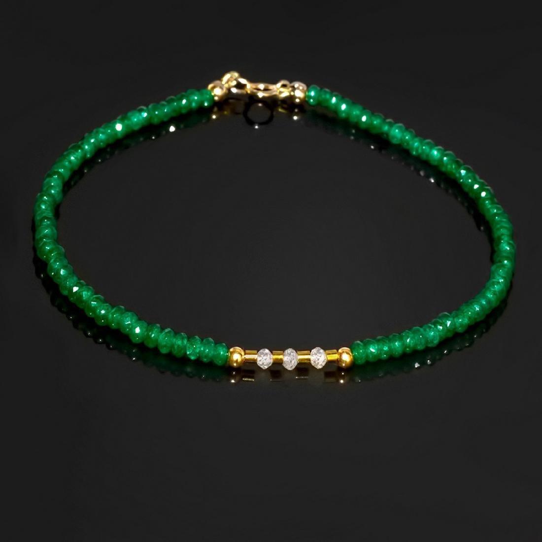 Retro Style Precious Jadeite Diamond Bracelet