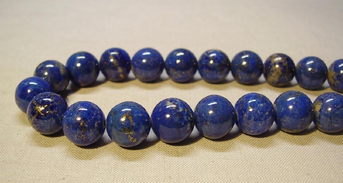 Bernhard Conradt 9K Yellow Gold Lapis Lazuli Necklace - 6