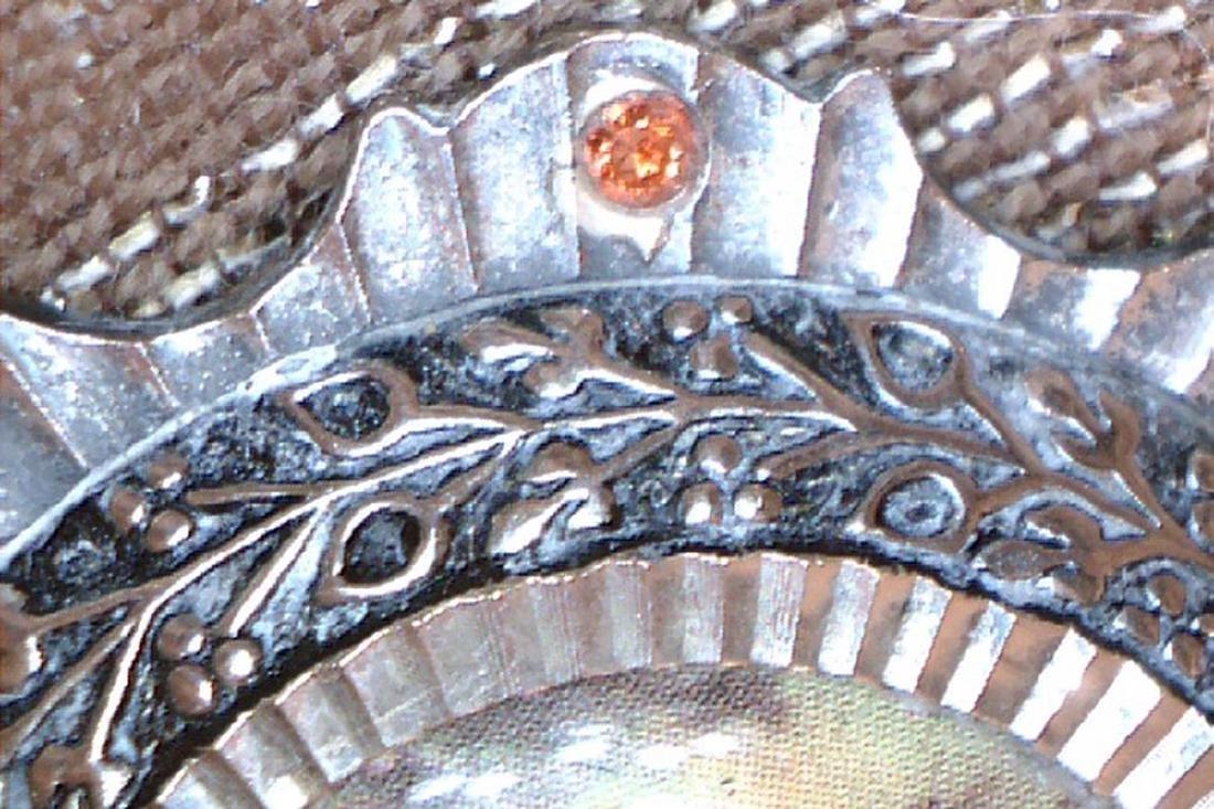 Very Fine Round Brooch Original of Art Deco Period - 5