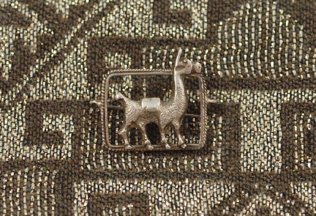 Vintage Funny Brooch in Silver 925 With an Alpaca