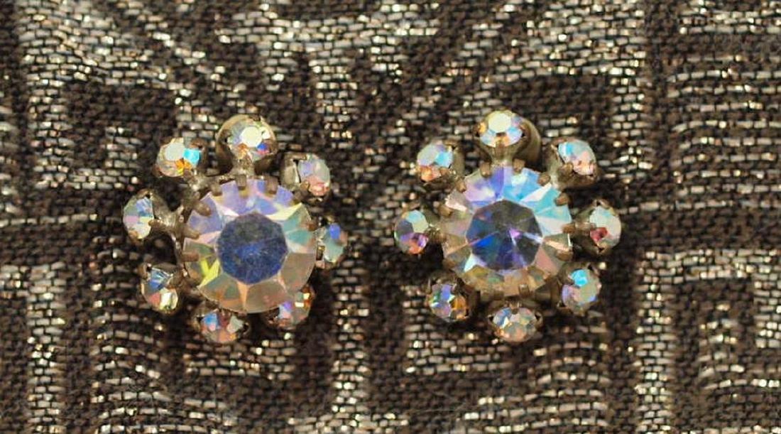 Wonderful Earrings in Brass of Art Deco Period
