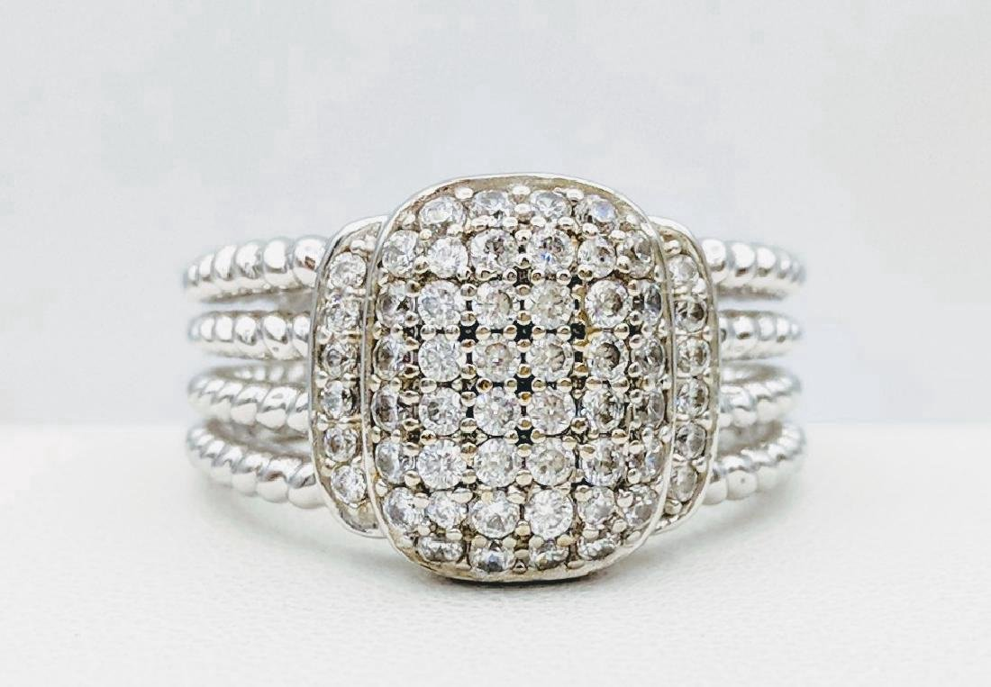 Sterling Silver Cubic Zirconia Ring, .84ctw