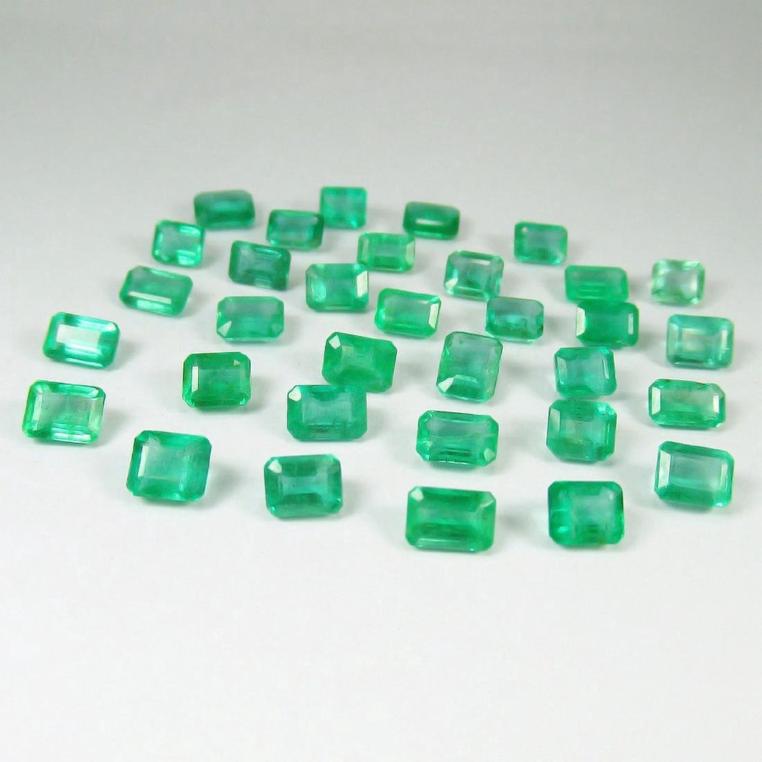 14.05 Carat 33 Loose Octagon Emeralds Lot Top Quality