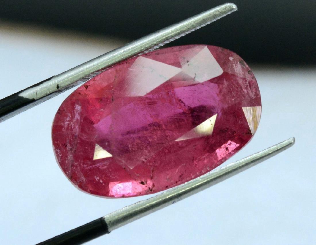 13 Carat Natural Rubelite Loose Gemstone - 2