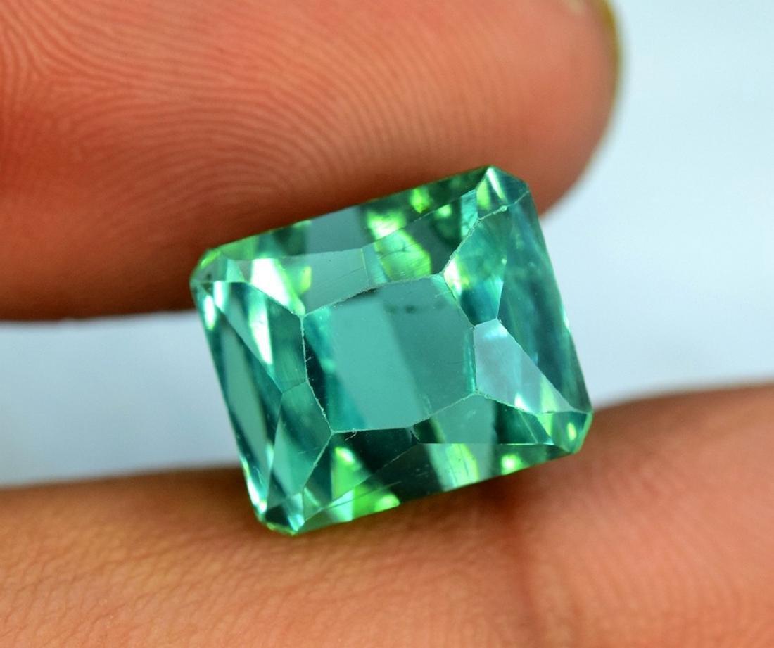 10.95 Carat Flawless Green Kunzite Loose Gemstone