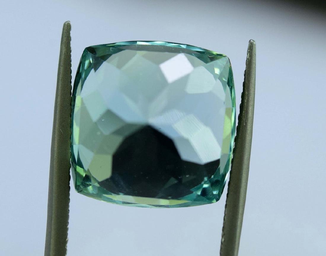 12.55 Carat Flawless Green Kunzite Loose Gemstone - 2