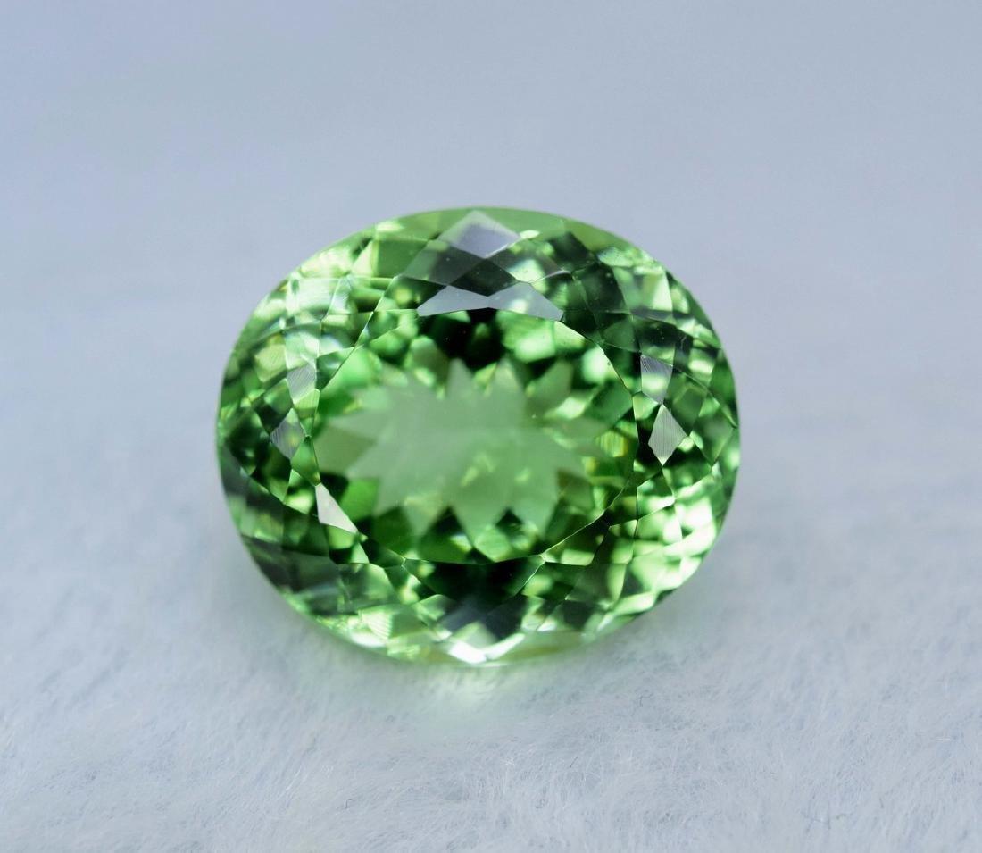 16.10 Carat Flawless Green Kunzite Loose Gemstone
