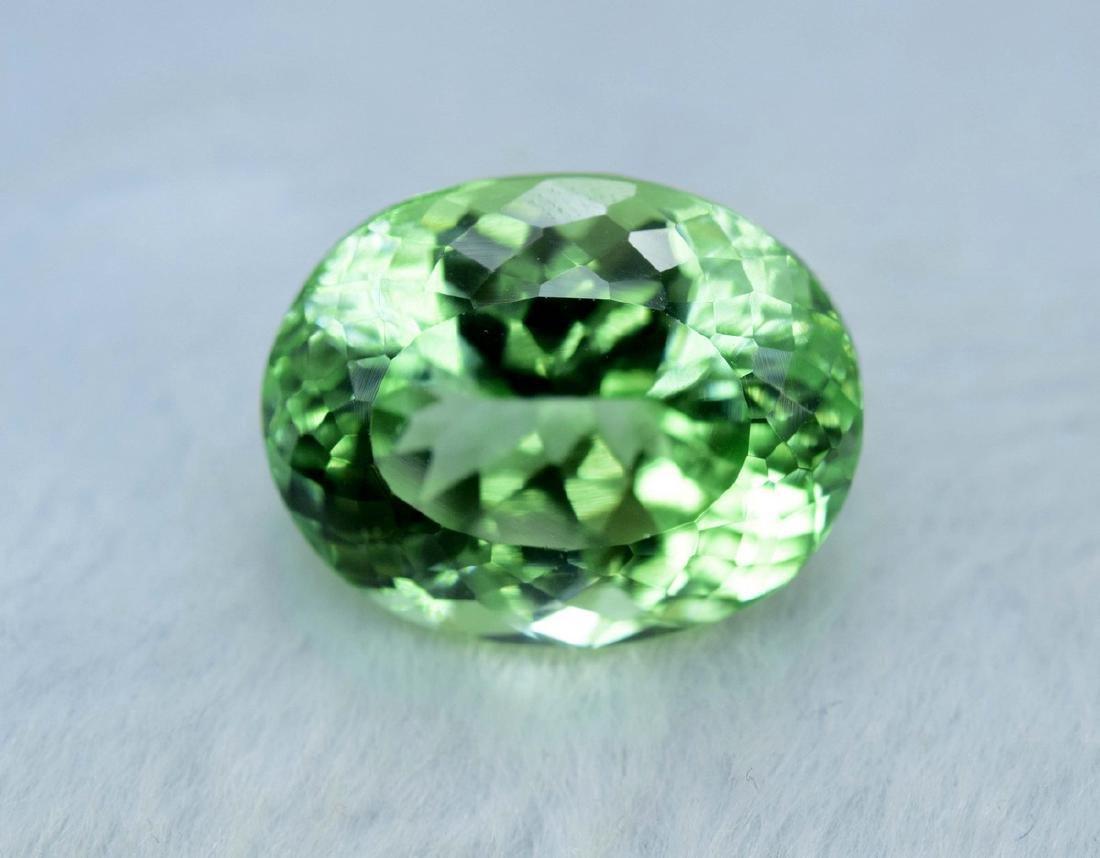 21 Carat Flawless Green Kunzite Loose Gemstone