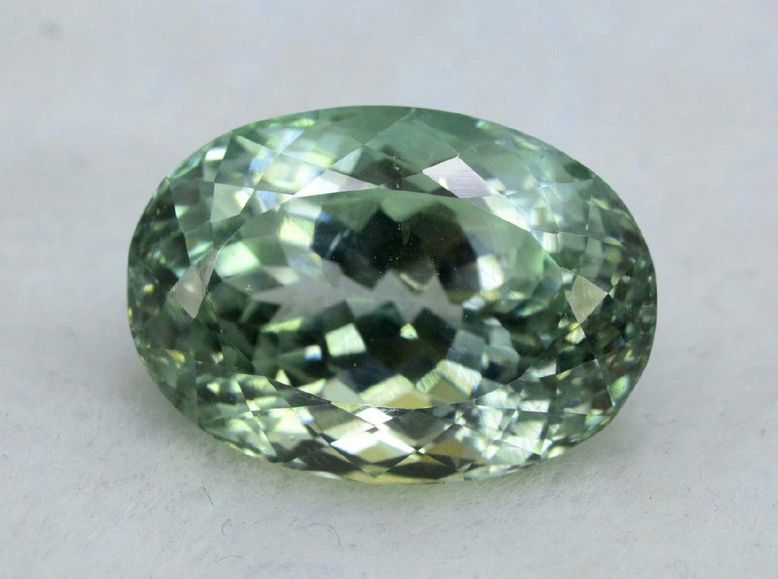 31.70 Carat Flawless Green Kunzite Loose Gemstone