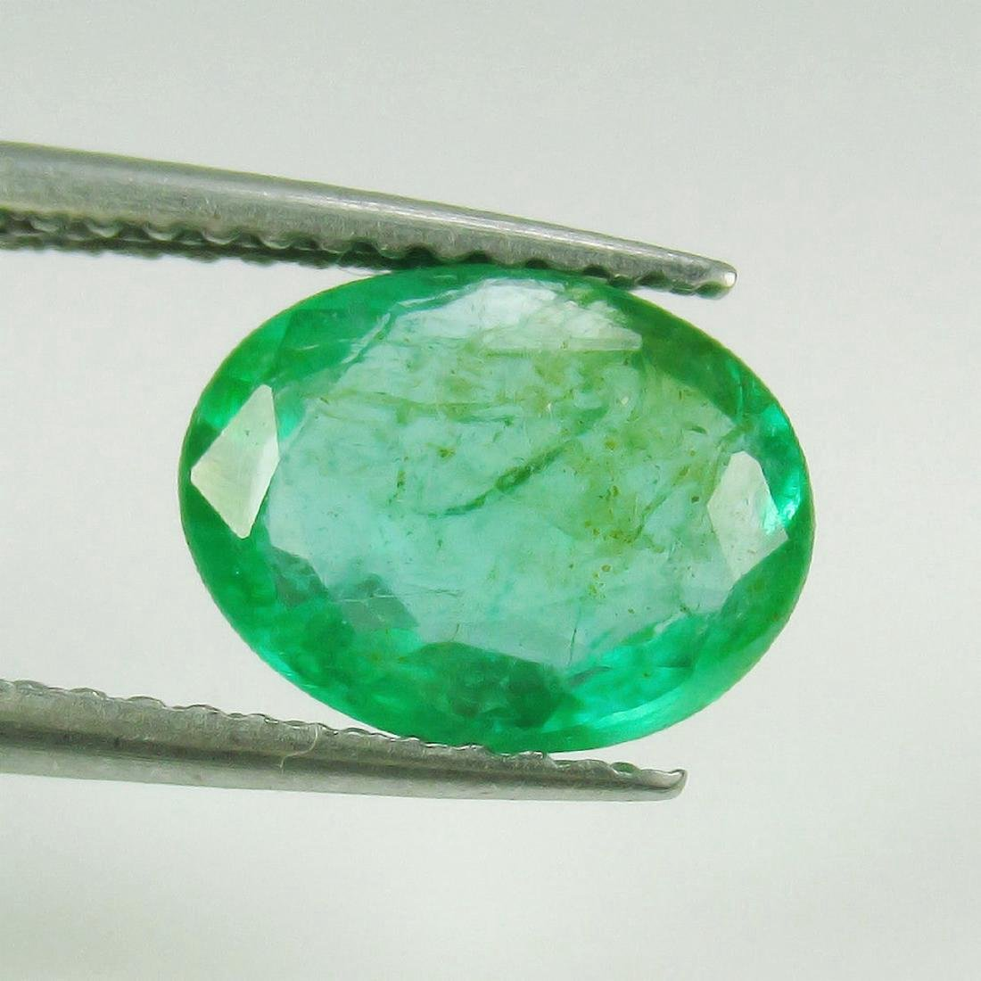 1.72 Carat Natural Zambian Loose Oval cut Emerald