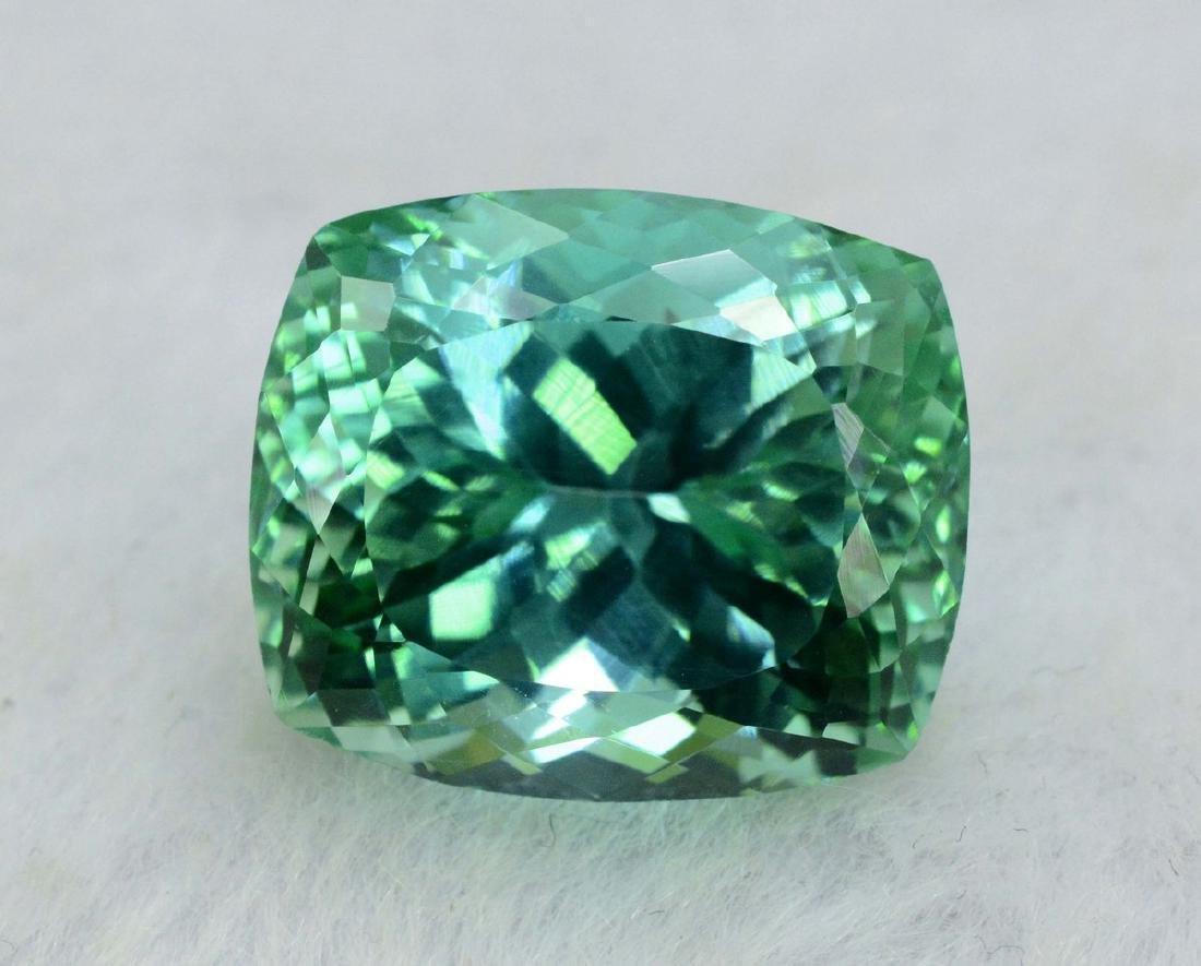 18.40 Carat Flawless Green Kunzite Loose Gemstone