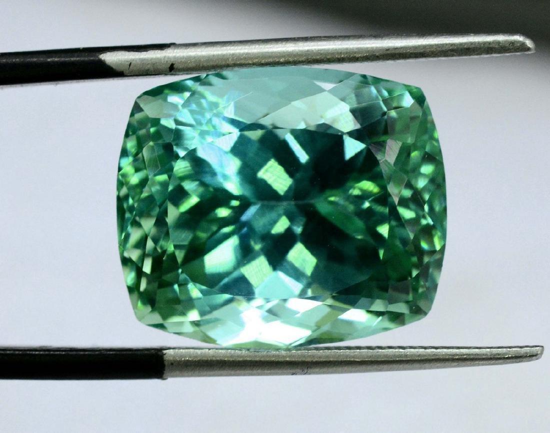 18.40 Carat Flawless Green Kunzite Loose Gemstone - 2