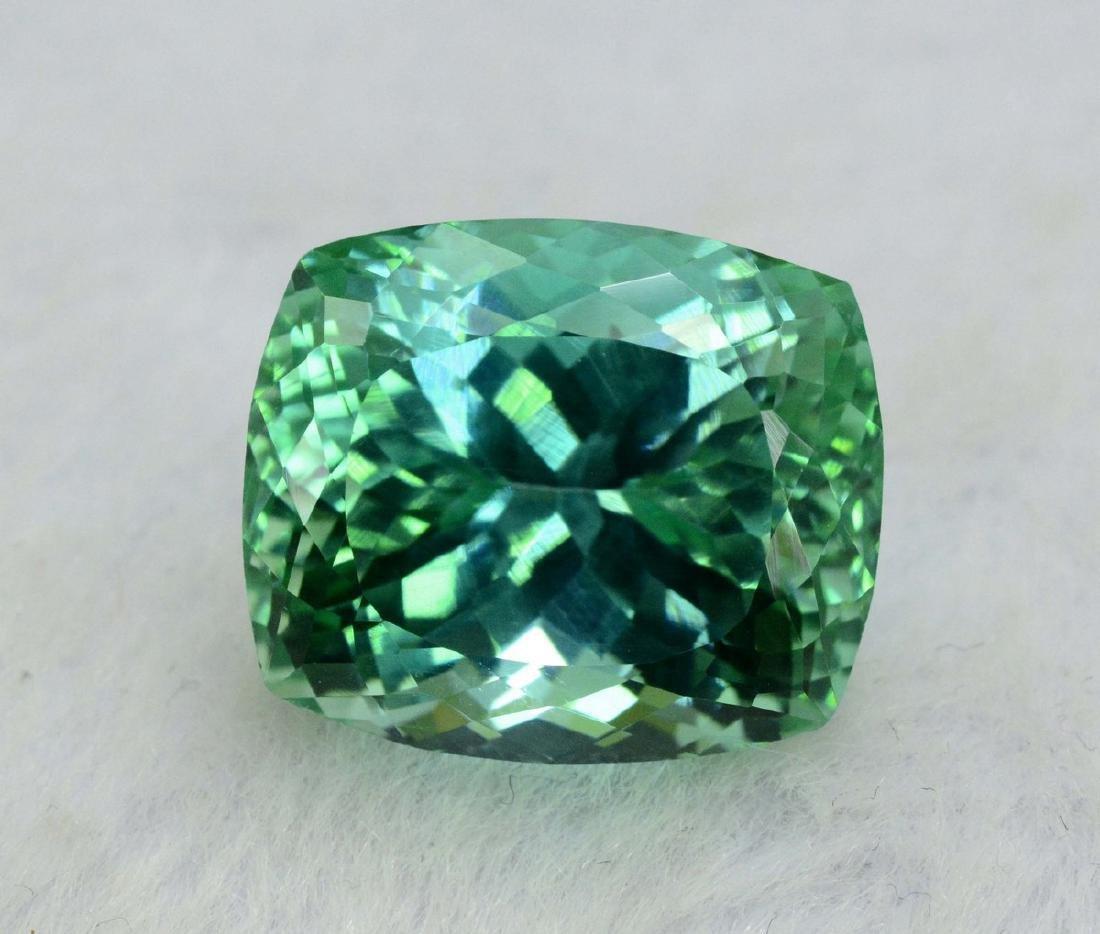 18.40 Carat Flawless Green Kunzite Loose Gemstone - 3
